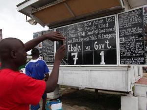 ebola hoax chalk board