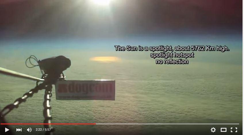 Sonnenreflektionsfläche